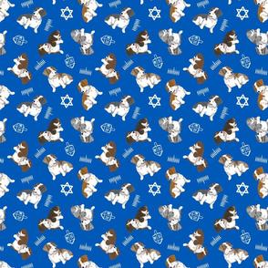 Tiny piebald Wirehaired Dachshunds - Hanukkah