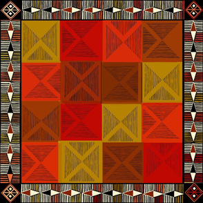 Maori Tropical Quilt with Border