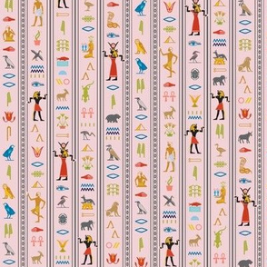 Hieroglyphics* (Capote) || Egypt hieroglyphics birds nature symbols animals ankh dance African leaves pyramid blush