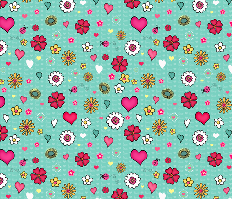 Garden Sketches fabric by bags29 on Spoonflower - custom fabric