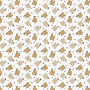 Micro tiny Wheaten Terriers - gray