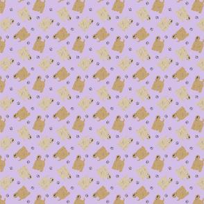 Micro tiny Wheaten Terriers - purple