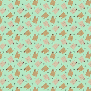 Micro tiny Wheaten Terriers - green