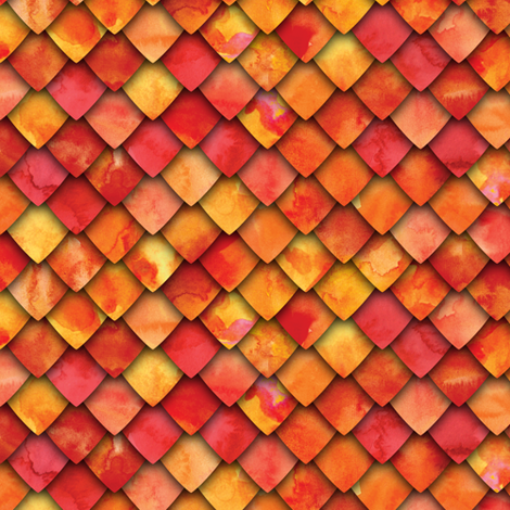 dragon scales -fire fabric by littlearrowdesign on Spoonflower - custom fabric