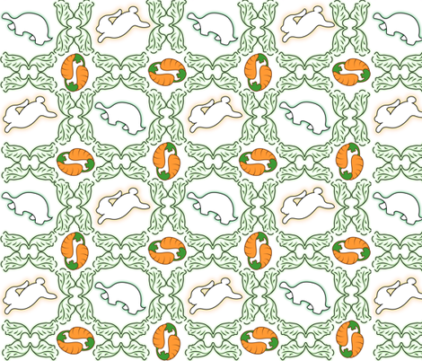 Lattice Leaves fabric by zestfully_me on Spoonflower - custom fabric