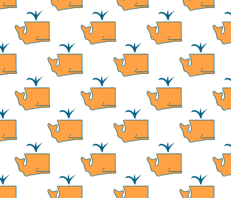 Washington State Whale fabric by phillustrations on Spoonflower - custom fabric