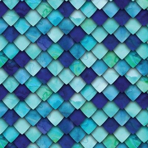 dragon scales - blue