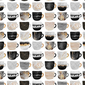 Pretty Coffee Cups - Grey - Small