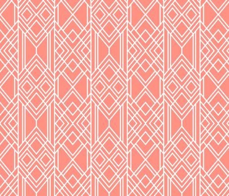 Peach Deco - Small fabric by elisabeth_fredriksson on Spoonflower - custom fabric
