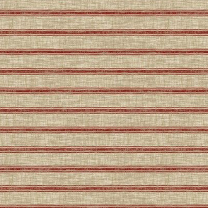 Weathered Ticking Stripe RR - red