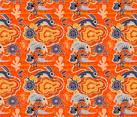 The African Tortoise + the Hare fabric by cooper+craft on Spoonflower - custom fabric