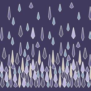 Rain Border Print in Purple and Blue
