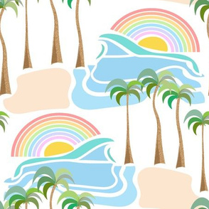 retro rainbow island
