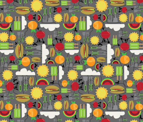 ant's picnic fabric by groundnut_apiary on Spoonflower - custom fabric