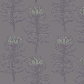 Plum Flowering Moss