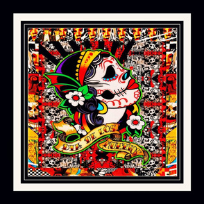 Day Of The Dead Pillow Top