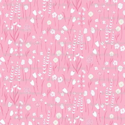 Spring Meadow - Floral Coordinate- Pink