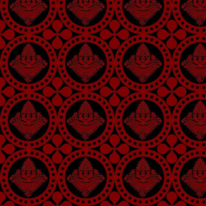 Authentic Design 001 - Red on Black