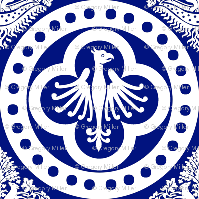 Authentic Design 004 - White on Blue