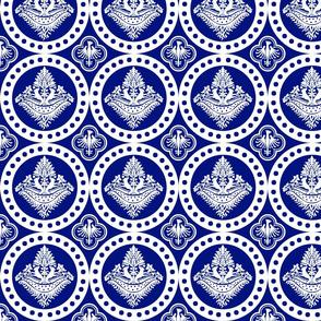 Authentic Design 002 - White on Blue