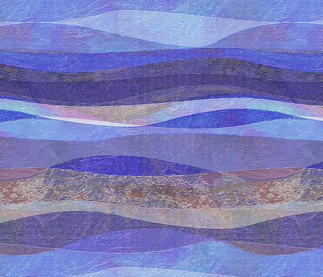 blue rolling waves hills fabric by wren_leyland on Spoonflower - custom fabric