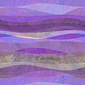 violet rolling waves hills