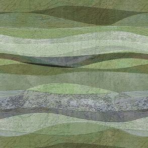 rolling sage waves hills...sage lime moss gray