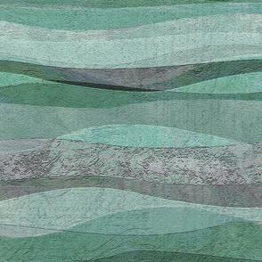 rolling aqua waves hills