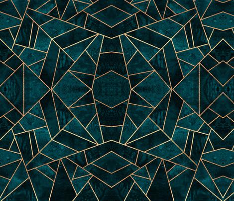 Deep Teal Stone - Medium fabric by elisabeth_fredriksson on Spoonflower - custom fabric