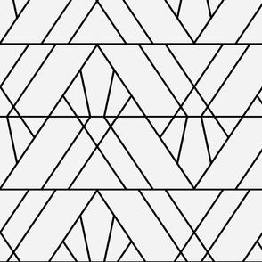 Art Deco Triangles - Large
