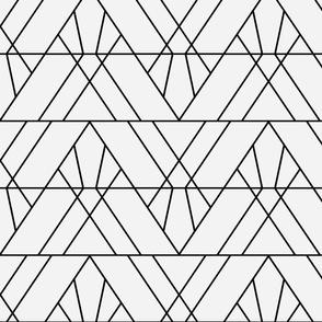 Art Deco Triangles - Medium