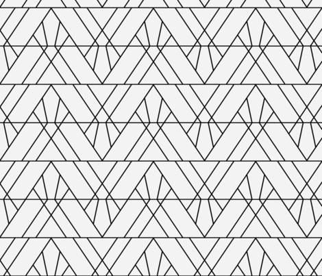 Art Deco Triangles - Small fabric by elisabeth_fredriksson on Spoonflower - custom fabric
