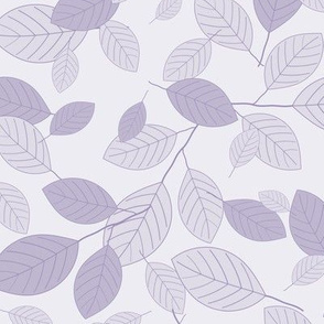 Kiss Summer Goodbye: Floating Purple Leaves