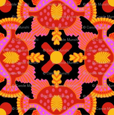 orange yellow geometric A