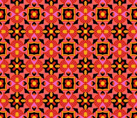orange yellow geometric A fabric by munshi_design on Spoonflower - custom fabric