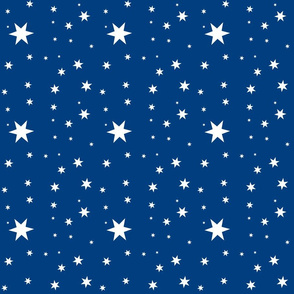 Night sky with stars blue and gray and white