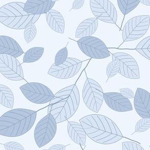 Kiss Summer Goodbye: Chambray Blue Drifting Leaves