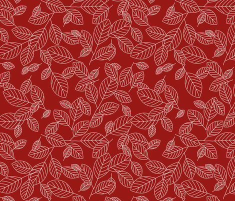 Kiss Summer Goodbye: Red Drifting Leaves fabric by dept_6 on Spoonflower - custom fabric