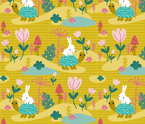 Walk of friends fabric by toy_joy on Spoonflower - custom fabric