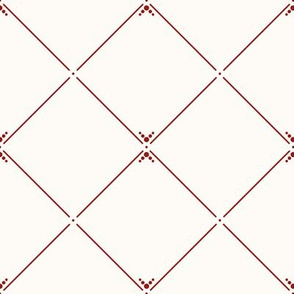 Lovely Trellis: Red & Cream