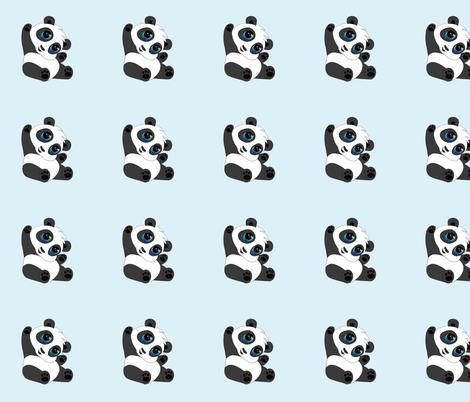 Cute baby panda fabric by littledi on Spoonflower - custom fabric