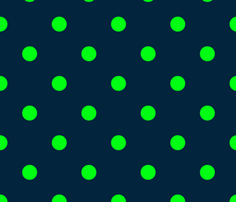 Navy and Neon Lime Green Jumbo Dots fabric by paper_and_frill on Spoonflower - custom fabric