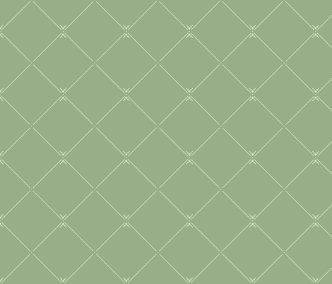 Lovely Trellis: Moss Green 5 fabric by dept_6 on Spoonflower - custom fabric