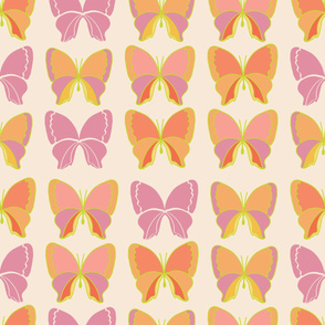 Pink and Purple Butterfly Stripes