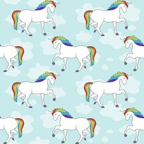 Unicorn with Rainbow Mane / cute hipster kids designs / trendy toddler clothes