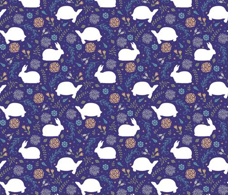 Tortoise and Hare fabric by malibu_creative on Spoonflower - custom fabric