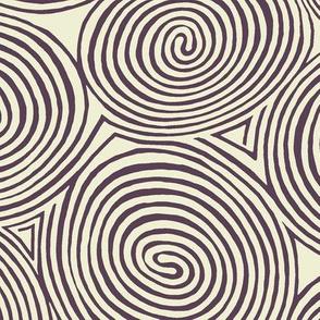spirals purple aubergine