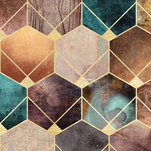 Natural Hexagons - Large