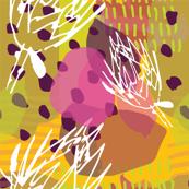 Sketchy Protea Yellow