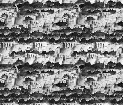 Castle fabric by agnieszka_rycombel on Spoonflower - custom fabric